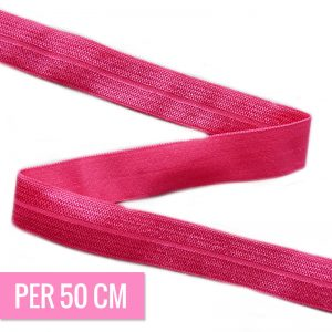 Haarband elastiek FUCHSIA 15mm