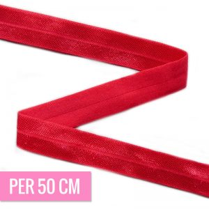 Haarband elastiek ROOD 15mm-0
