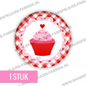 Cupcake ruit sweet roze rood flatback buttons