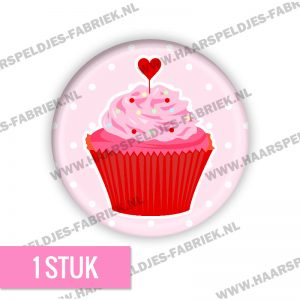 Cupcake sweet roze rood flatback buttons