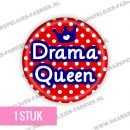 Drama queen rood blauw flatback buttons