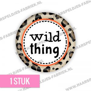 Panter bruin wild thing flatback button