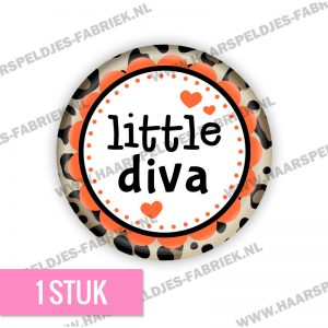 Panter bruin little diva flatback button