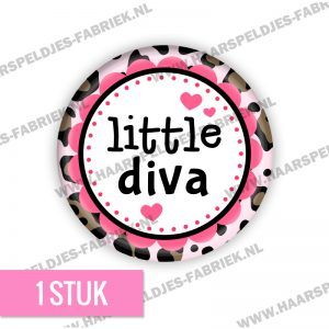Panter roze little diva flatback button