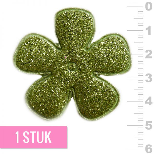 47mm Bloem applicatie lime glitter