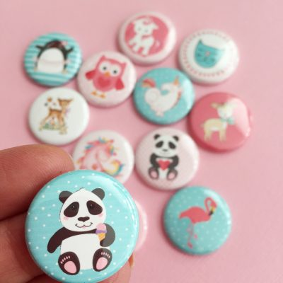 Disney, Nijntje, Hello Kitty of K3 flatback buttons