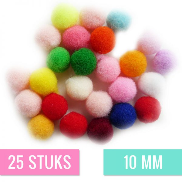 Pompon mix 10mm